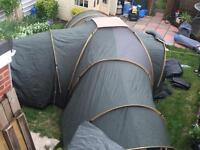 Tent camping pro action 10 man three bedroom & one day room large tent