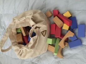 ELC building blocks with canvas bag