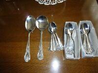 "Coffee Spoons, Polished Stainless Steel ""Kings Pattern"""