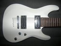 Schecter Diamond Series C-7 Deluxe Electric Guitar , Satin White / Never Used !