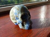 for sale a stunning carved lapis lazuli skull in very good condition