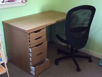 IKEA Swivel chair and computer desk
