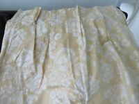 Laura Ashley Gold and Ivory Curtains