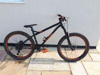 orange p7 hardtail mountain bike
