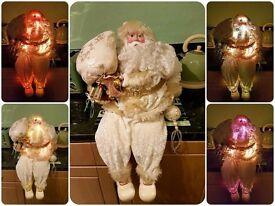 Fiber Optic Sitting Santa