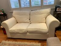 2 seater white IKEA sofa for sale (good condition)