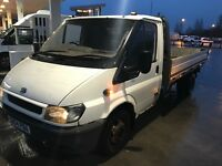 Ford Transit Flatbed Dropside LWB Long Mot Drives Great
