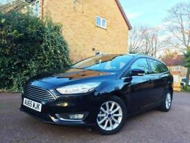 2015 FORD FOCUS 1.0 ECOBOOST TITANIUM ESTATE BLACK, ONLY 08K MILES. 1 OWNER, TOP SPEC MINT BARGAIN