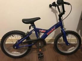 Boys 16 inch wheel Halfords Trax bike