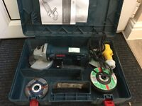 Bosch grinder and sds drill