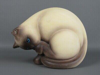 Lovely Statue Ornament Decor Figure Cat Siamese 25CM