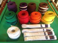 Various Karate Belts.