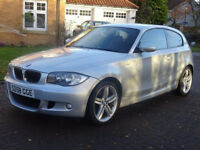 BMW 1 SERIES 2.0 118D M SPORT 3d 141 BHP MOT OCTOBER 2018+ 18 INCH ALLOYS++