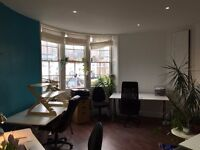2 Full time Desks available in amazing Creative Space in Brighton Laines. 6 month lease