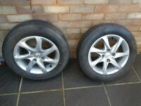 2x Peugeot 208 alloy wheels 15""