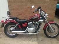Very good condition Yamaha Virago 125cc v twin and very low mileage.