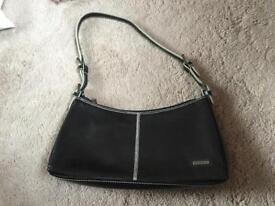Fiorelli black leather clutch bag