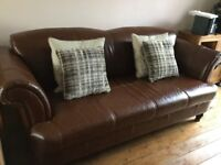 Three seater leather,sofology couch,hardly used,