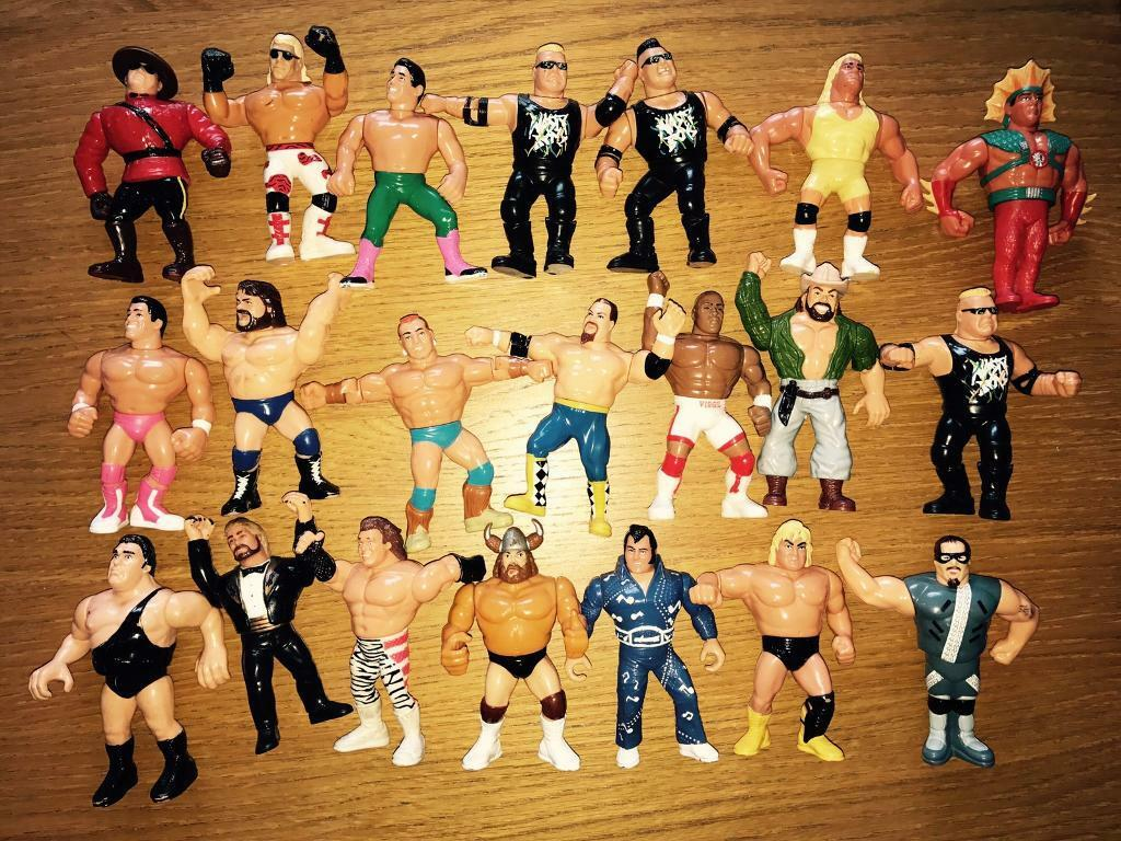 21 Hasbro WWF Vintage Wrestlers - Rare!!