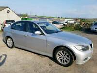 2007 BMW 3 SERIES 318D SE 4 DOOR SALOON SILVER 12 MONTHS M.O.T