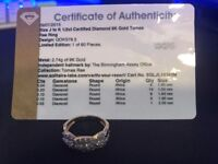 1/2ct Certified Diamond and 9K Gold Tomas Rae Ring