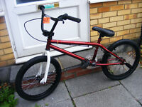 "BOYS BLANK 20"" WHEEL BMX BIKE WITH STUNT PEGS - GREAT WORKING ORDER AGE 8-ADULT"