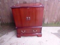 Fold Tv Stand Unit Red Wood By Fold Delivery Available £7