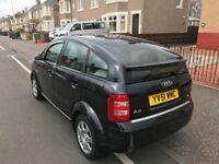Audi A2 full years MOT black 5 door 1.4 petrol