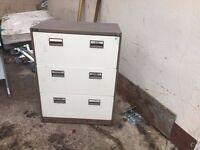 Three draw filling cabinet