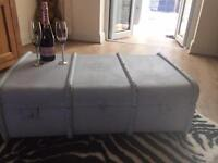 Shabby chic trunk coffee table