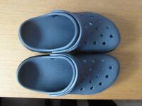 Brand new grey/black crocs mans size 7 ladies size 9