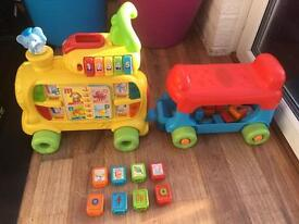 Vtech push and ride on musical alphabet train