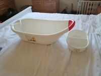Mothercare baby bath and top and toe bowl
