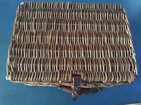 Vintage Coracle picnic basket with Cheney Handle