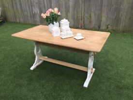 Lovely upcycled vintage dining table.