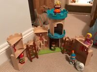 Happy land castle with figures