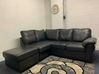 Pending Black leather corner sofa delivery 🚚 sofa suite couch furniture