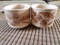Churchill homespun wheat cups