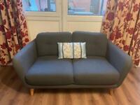 2 seater sofa PLUS armchair excellent condition: John Lewis Arlo