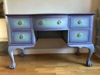 Shabby chic desk/dressing table with matching chair