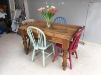 Beautiful rustic kitchen antique table