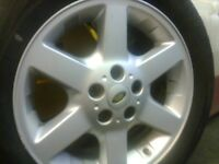 Genuine Land Rover Freelander1 17in Alloys with 225/55/17 x5 with very good tyres £150