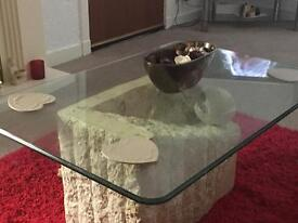 Marble base coffee table