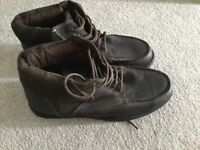 Men's Dark Brown Leather lace up boots.Brand new,never worn.Florence and Fred from Tesco.