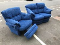 2 Seater Sofa and Recliner Chair (@07752751518)