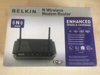 Belkin n wireless modem router