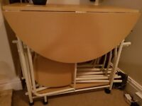 Folding table and 4 chairs. Only selling due to moving