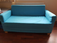 Ikea ULLVI two-seat sofa-bed for sale with sofa-bed cover included – both in great condition