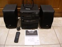 JVC Model CA-S200 Compact Hi Fi Music System CD/Radio/Twin Cassette