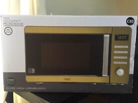 Brand new next gold effect microwave oven